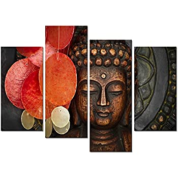 Buddha Canvas Wall Art Wood Buddha Statue Canvas Prints Keep Inner Peaceful Buddha  Artwork For Living Part 59
