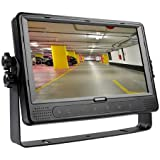 Dash Mount 9 in Mobile Monitor with 4-Channel Video Switcher