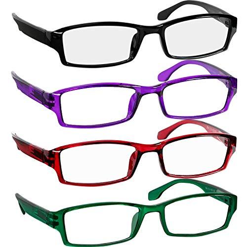- Reading Glasses 1.50 Black Purple Green Red F501