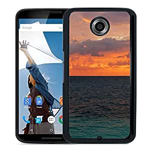 New Beautiful Custom Designed Cover Case For Google Nexus 6 With Nature Sunset Ocean Surface Phone Case