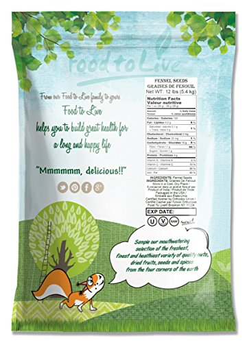 Fennel Seed Whole by Food to Live (Kosher, Bulk) — 12 Pounds by Food to Live (Image #1)