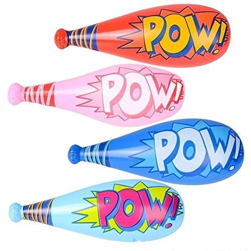 Blow Up Toys (Rhode Island Novelty 20 Inch InchPOW Inch Bat Inflates Pack of)