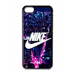 The logo of Nike for Apple iPhone 5C Black Case Hardcore-1