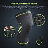 Sable Knee Brace, Compression Sleeve FDA Approved, Support for Arthritis, ACL, Running, Biking, Basketball Sports, Meniscus Tear, Faster Recovery, Large, Set of 2