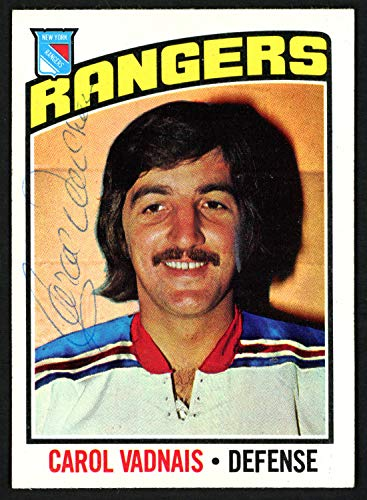 - Carol Vadnais Autographed Signed Memorabilia 1976-77 Topps Card #257 New York Rangers 150202 - Certified Authentic
