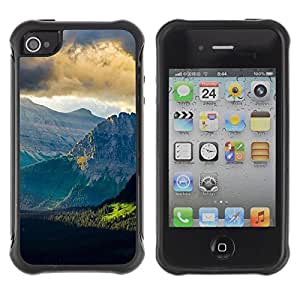 """Hypernova Defender Series TPU protection Cas Case Coque pour Apple iPhone 4 / iPhone 4S [Naturaleza Hermosa Forrest Verde 153""""]"""