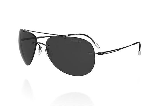 9d7b79c02b Amazon.com  Silhouette Aviator Sunglasses Adventurer (8142-6200 ...