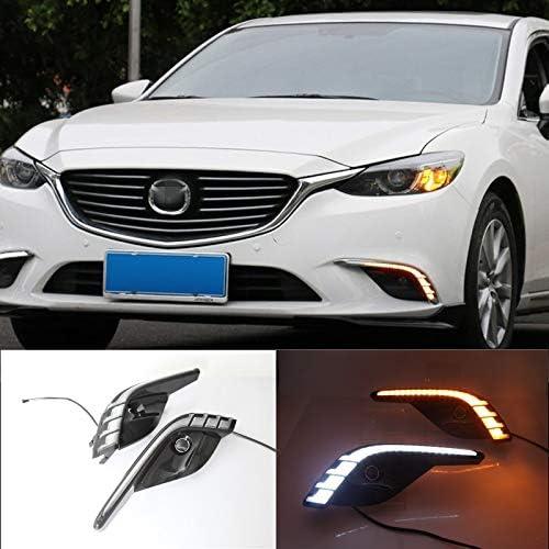 [해외]Auto-Tech 1 Set Car LED light Daytime Running Light Retrofit LED White light color DRL kit For For Mazda 6 Atenza 2017-2018 (White+Yellow light) / Auto-Tech 1 Set Car LED light Daytime Running Light, Retrofit LED White light color ...