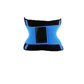 e7fed3e94a KK Curves Sporty Dual Strap Adjustable Waist Training Belt with Velcro  (Blue)