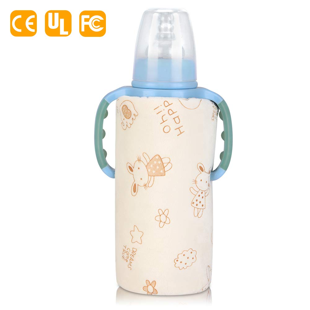 Yellow Bottle Insulation Bottle Bottle Warmer Heating Storage Bag USB Out Portable Heating Bottle Warmer