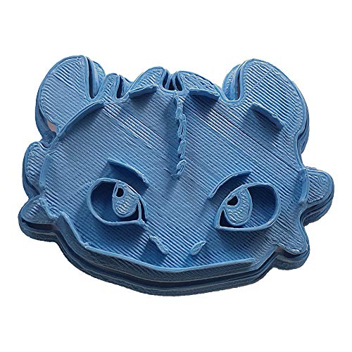 Cuticuter Toothless Face How to Train Your Dragon Cookie Cutter, Blue