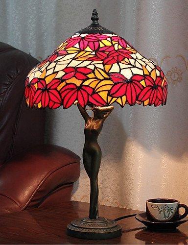 DXZMBDM® 60W Bunte Hübsche Tischleuchte mit Red Leaf-Göttin Körper Pole Gemusterte , 220-240v
