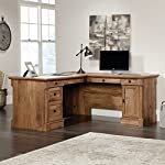 Sauder Palladia L-Shaped Desk, Vintage Oak finish
