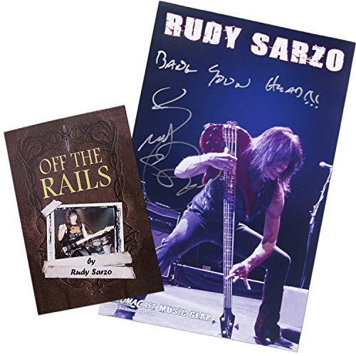 "Rudy Sarzo Autographed ""Off the Rails"" Book and Poster Collector's - Autographed Packages"