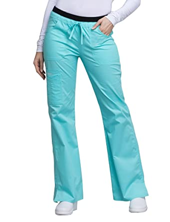 7a1ca01e0c4 Image Unavailable. Image not available for. Color: Cherokee Core Stretch  Workwear Women's Flare Leg Scrub Pant ...