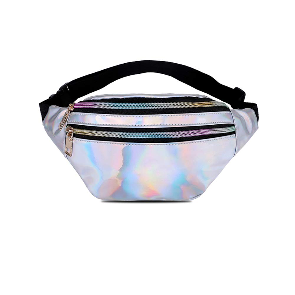 Fashion Waist Pack Bum Bag with Adjustable Belt. Holographic Fanny Packs for Women /& Men