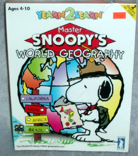 Yearn2learn Master Peanuts Snoopys Geography Cd rom product image