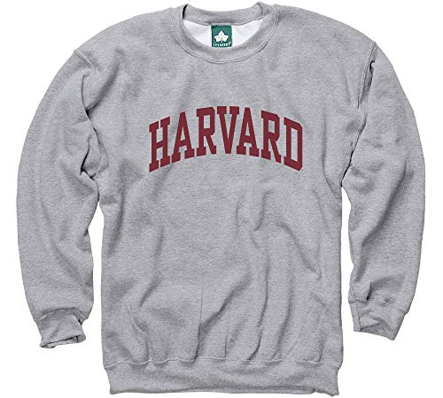- Ivysport Harvard University Crewneck Sweatshirt, Classic, Grey, Small