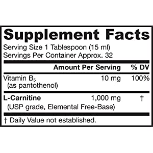 Jarrow Formulas Liquid Carnitine 1000 1000 mg 16 oz (Pack of 2)