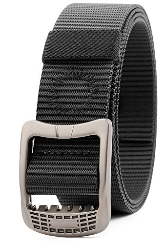 Big Save! JASGOOD Survival Military Canvas Nylon Belts For Men Tactical Outdoor Belt with Metal Buck...