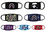 Xshelley 7-pack 6 Shark Face Mask and 1 Face