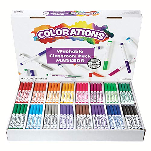 Classpack Set - Colorations Washable Classic Markers Classroom Pack - Set of 256 (Item # 982561)