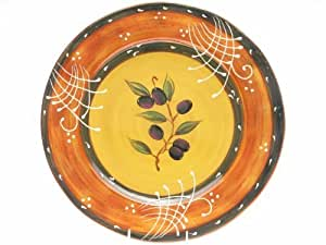 Certified International French Olives Round Platter, 16-Inch