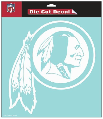 "Wincraft Washington Redskins 8"" x 8"" White Decal"