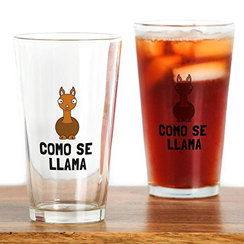 CafePress - Como Se LLama Drinking Glass - Pint Glass, 16 oz. Drinking (Tina The Llama Costume)
