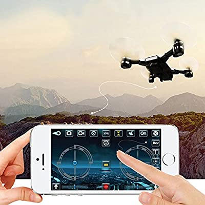 OWL MODE Drone with HD Camera Live Video 720P Camera and Remote Control and Return Home Quadcopter with Adjustable Wide-Angle 720P HD WIFI Camera, Altitude Hold, Intelligent Battery Smart by OWL MODE