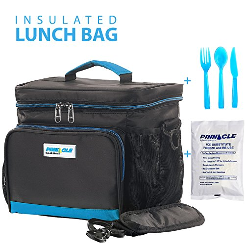 insulated lunch bag kit for work pinnacle cooler bag for men women adults ebay. Black Bedroom Furniture Sets. Home Design Ideas