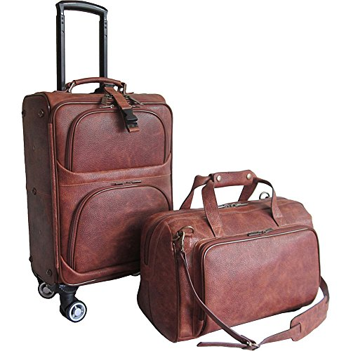 amerileather-2-piece-spinner-traveler-set-waxy-brown