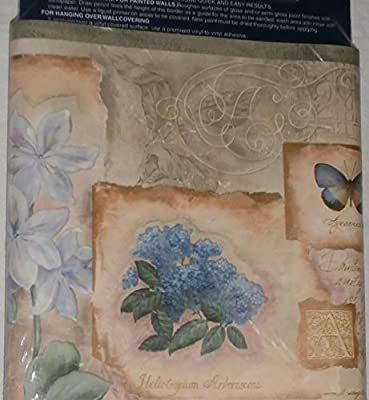 Expressions Wall Paper Borders Hydrangeas In Basket Prepasted Washable 5 Yd.