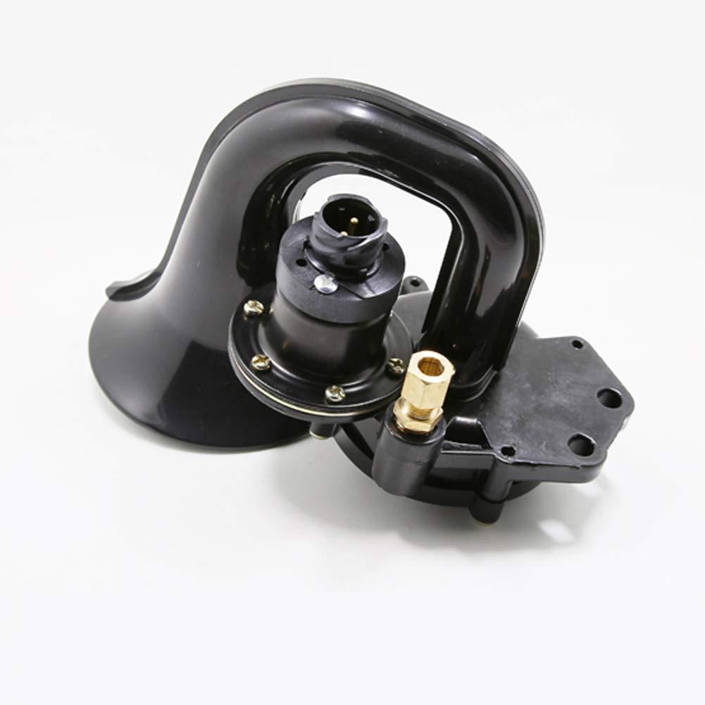 JIAOXM Super Laute Hupe,wasserdichte Schnecke Auto Horn Universal Elektrische Lufthorn 12 V 150 dB f/ür Autos LKW Motorrad,A