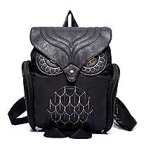 HEYFAIR Women Cute Owl Backpack Purse Casual School College Daypack Bag Grils Boys