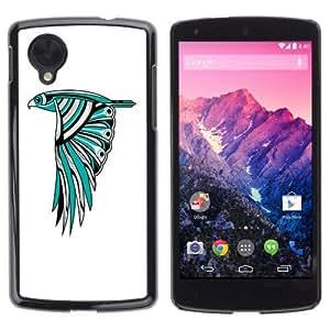 YOYOSHOP [Beautiful Owl Colorful Illustration] LG Google Nexus 5 Case