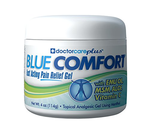 Glucosamine Emu Oil (Doctor Care Plus Pain Relief Cream with Emu Oil, MSM, Aloe, Vitamin C, 4 oz)