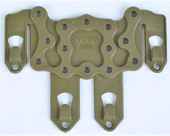 BAPDSB Attaque Tactique Molle Holster Adaptateur Support de Plate-Forme pour Arme /à feu Airsoft CQC Gilet de Chasse Accessoires Ambidextrou Noir