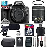 Holiday Saving Bundle for D3300 DSLR Camera + AF-P 18-55mm + 2yr Extended Warranty + 16GB Class 10 + Case + UV Filter + Cleaning Kit + Cleaning Brush + Card Reader - International Version