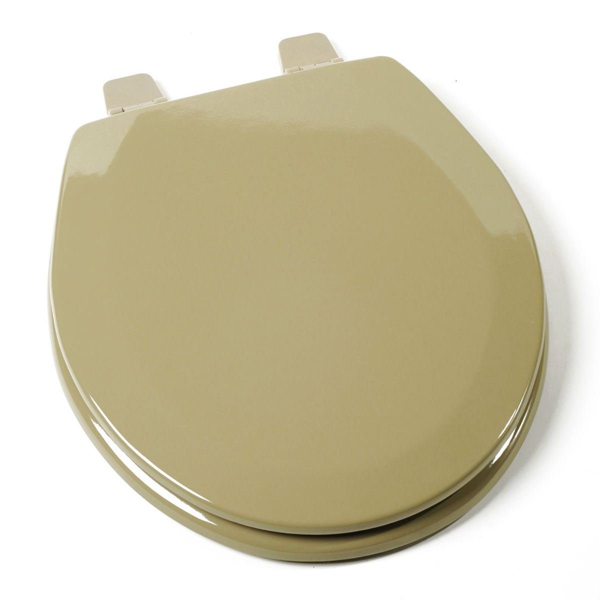 Trendy Deluxe Toilet Seat Standard Size Avocado Green Round Wood Adjustable Hinges Great For Your Bathroom Toilet