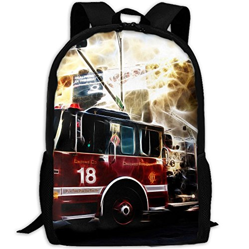 Fire Truck Wallpaper Interest Print Custom Unique Casual Backpack School Bag Travel Daypack ()