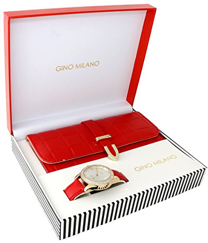 Ladies Wallet Sets With Matching Watch -Red by Gino Milano (Image #6)