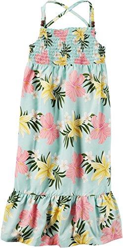 Carter's Girls' 2T-8 Floral Maxi Poplin Dress (Sleeveless Stretch Poplin Dress)