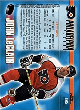 Amazon.com: 1999-00 Topps Chrome Ice Masters Refractors #IM5 ...