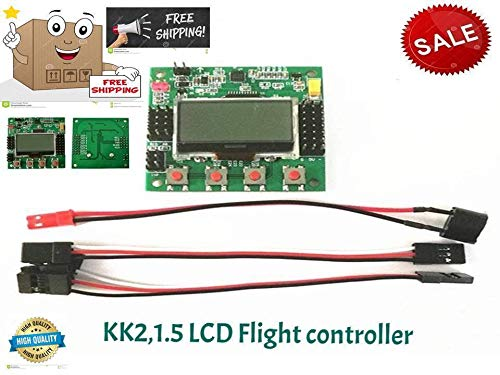 FidgetKute KK2.1.5 LCD Flight Controll Board V1.17S1PRO 6050MPU 644PA for RC Multirotor New