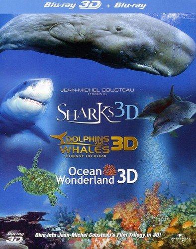 - Jean-Michel Cousteau's Film Trilogy: Dolphins & Whales/Sharks/Ocean Wonderland [Blu-ray 3D + Blu-ray] [Region Free]