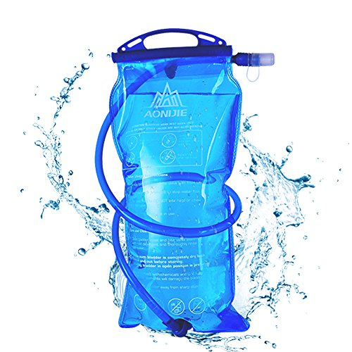 AONIJIE 1L Hydration Bladder Insulated 2 Liter Water Reservoir 1.5L Water Storage Bladder Bag BPA Free Hydration Pack Bladder for Hiking Biking Climbing Cycling Running(1.5L)