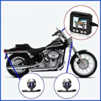 "Bikers Camera, Sykik Rider SYBC6 Motorcycle Action Camera, Sport camera with DVR. With Front camera and back camera , 2"" LCD monitor with Picture in picture"