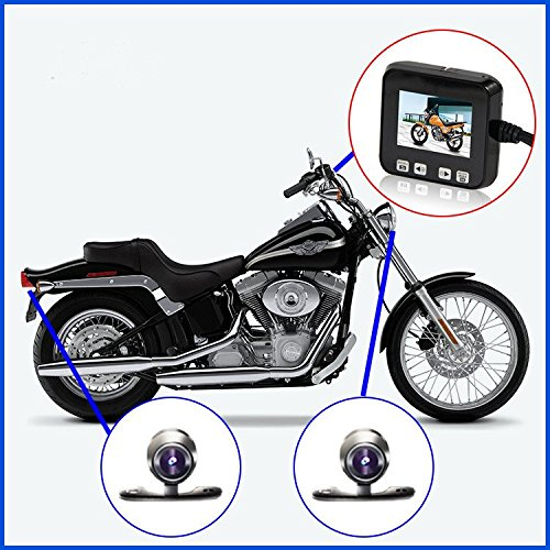 "Biker's Camera, Sykik Rider SYBC6 Motorcycle Action Camera, Sport camera with DVR. With Front camera and back camera, 2"" LCD monitor with Picture in picture"
