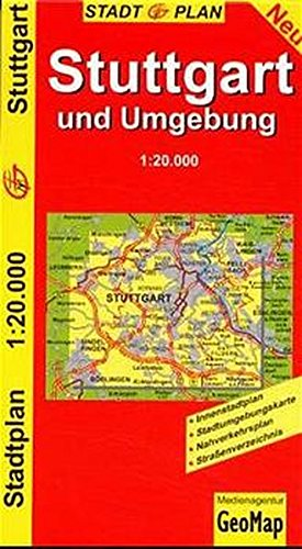 GeoMap Stadtpläne, Stuttgart und Umgebung Landkarte – Folded Map, 21. September 2016 GeoMap Stadtpläne GeoCenter 3933671639 Karten